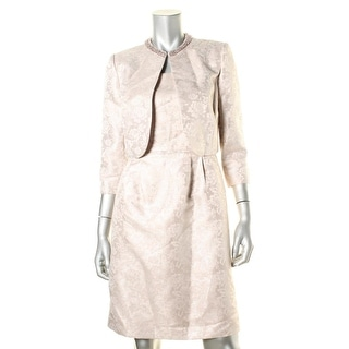 Tahari ASL Womens Shimmer Pattern Dress With Jacket