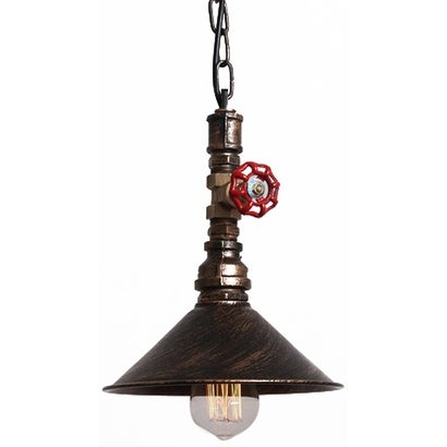 Rustic Copper Water Pipe Industrial Pendant Lamp Light