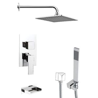 Remer by Nameeks TSH4112 Tyga Tub and Shower Package with Single Function Rain S