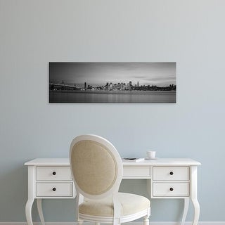 Easy Art Prints Panoramic Images's 'Suspension bridge with city, Bay Bridge, San Francisco Bay, California' Canvas Art