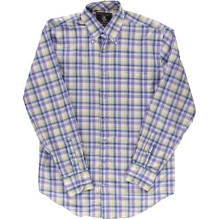 Maker And Co. Mens Cotton Long Sleeves Button-Down Shirt - L