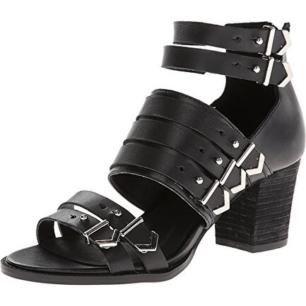 Shellys London Womens VALVORI Leather Open Toe Casual Strappy Sandals