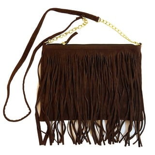 Women Fringed Fashion Crossbody Evening Handbag Bag Purse, Blue, Black, Brown