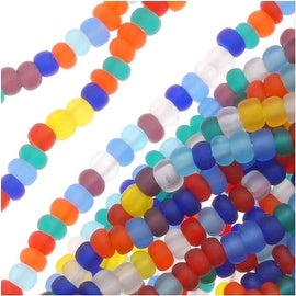 Czech Seed Beads Mix Lot 11/0 Rainbow Matte Clear