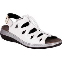 Helle Comfort Women's Jarla Strappy Sandal White Leather