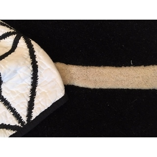 Shop Hand Tufted Contemporary Black White Adler Wool