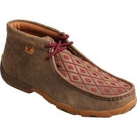Twisted X Boots Women's Driving Moc Chukka Bomber/Mahogany Leather