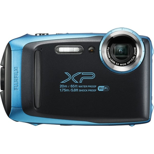 Fujifilm FinePix XP130 Waterproof Digital Camera w/16GB SD Card - Sky Blue. Opens flyout.