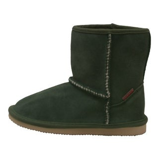 L'Amour Little Girls Green Faux Shearling Lined Ankle Boots 6-10 Toddler