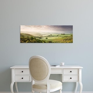 Easy Art Prints Panoramic Image 'Fields, VillBelvedere, San Quirico d'Orcia, SienProvince, Tuscany, Italy' Canvas Art