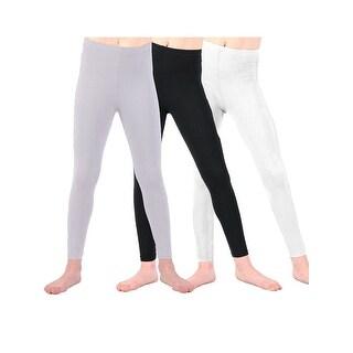 Lori & Jane Girls Black White Gray 3 Pc Leggings
