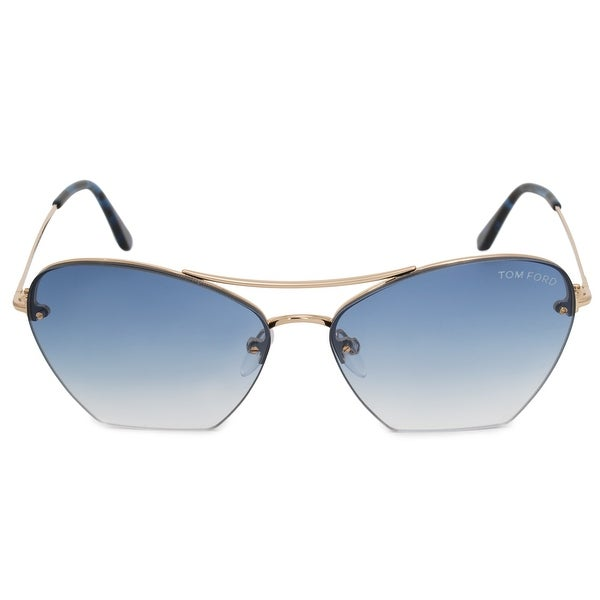 c925afe72029d Shop Tom Ford Annabel Aviator Sunglasses FT0507 28W 58