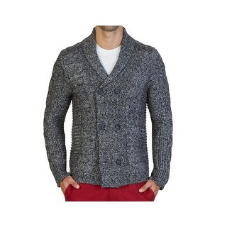 Nautica NEW Black Mens Size XL Double-Breasted Peacot Cardigan Sweater
