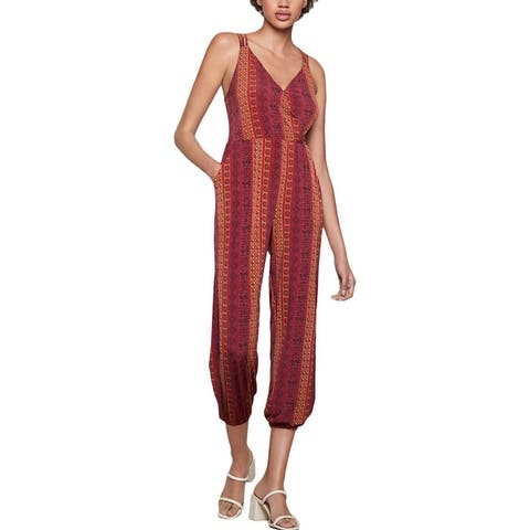 BCBGeneration Womens Jumpsuit Printed Cropped - Multi