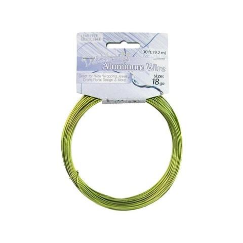 Dazzle It Aluminum Wire 18ga Rnd 30ft Green Apple