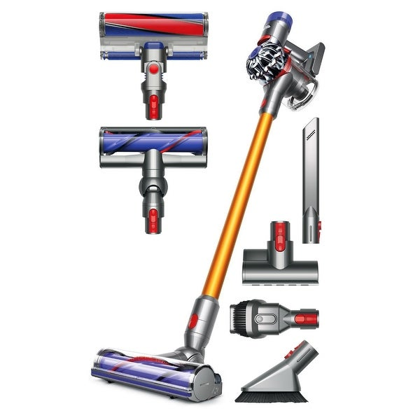 Dyson V8 Absolute Cordless HEPA Vacuum Cleaner + Fluffy Soft Roller and Direct Drive Cleaner Head