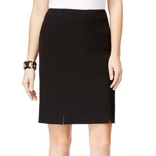 Kasper NEW Black Women's Size 16P Petite Straight Pencil Solid Skirt