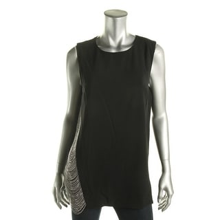 DKNY Womens Luxe Chain Detail Tank Top