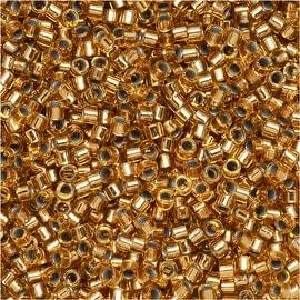 Miyuki Delica Seed Beads 11/0 - Silver Lined Light Bronze DB181 7.2 Grams
