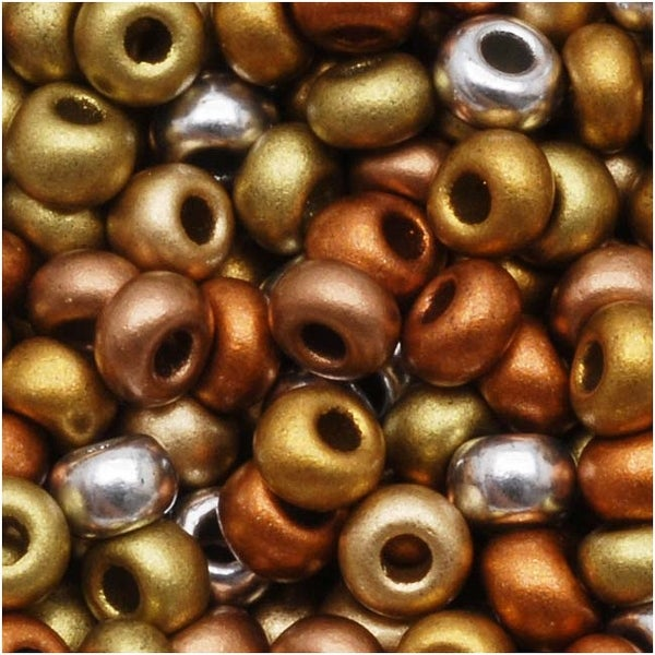 Czech Seed Beads 8/0 Supra Metallic Mix (1 Ounce)
