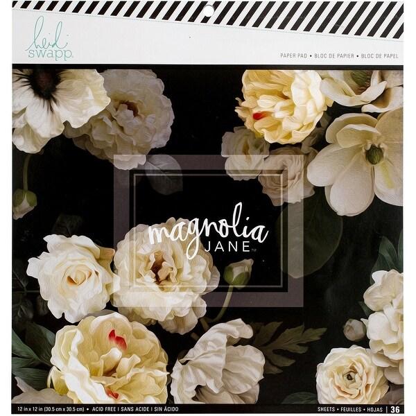 "Heidi Swapp Single-Sided Paper Pad 12""X12"" 36/Pkg-Magnolia Jane"