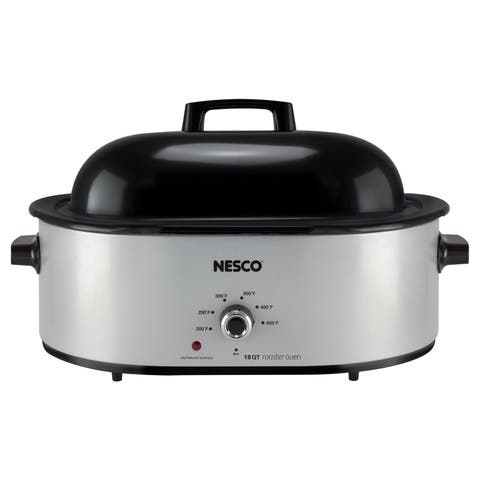 Nesco 18 Polished Roaster Oven 17.5 in. H x 25.4 in. L x 9.2 in. W