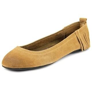 Mojo Moxy Lily Round Toe Leather Flats