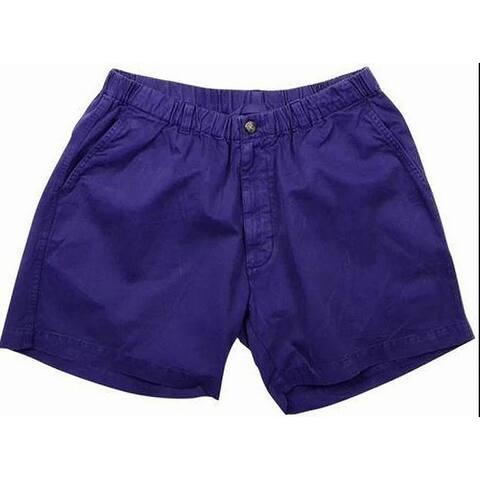 Vintage 1946 Mens Purple Size XL Snapper Twill Elastic Waist Shorts