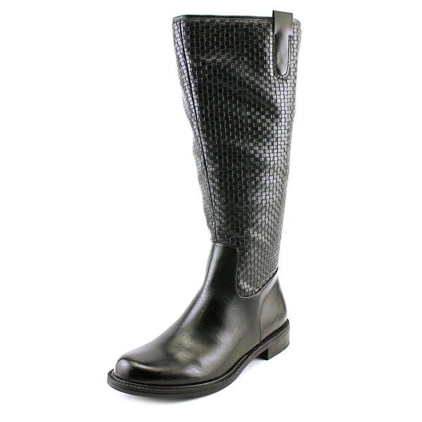 David Tate Quest Wide Calf Black Boots