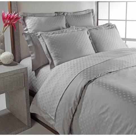 Diamond Jacquard 300 Thread Count 100-percent Combed Cotton Duvet Set