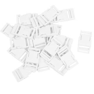 Backpack Strap 2.7cm Repair Parts Plastic Side Quick Release Buckle White 20 Pcs