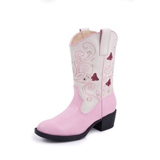 Roper Western Boots Girls Butterfly Child Pink 09-018-1201-1215 PI