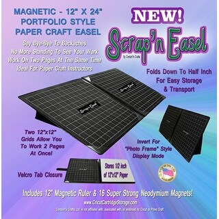Scrap' N Easel Magnetic Portable Scrapbook Grid Layout Ergonomic Work Surface