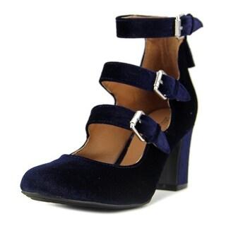 Indigo Rd. Irellie   Round Toe Canvas  Heels