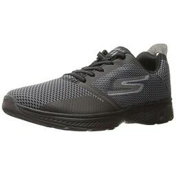 Skechers Performance Men's Go 4-54169 Walking Shoe, Black/Gray, 12 M US