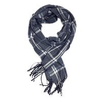 """Super Soft Luxurious Classic Cashmere Feel Winter Scarf - Navy - 72""""x12"""" with 13"""" fringes"""