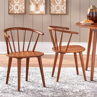 Simple Living Florence Modern Farmhouse Rubberwood Dining Chairs (Set of 2)