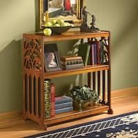 Design Toscano  St. Thomas Aquinas Gothic Wooden Bookshelf
