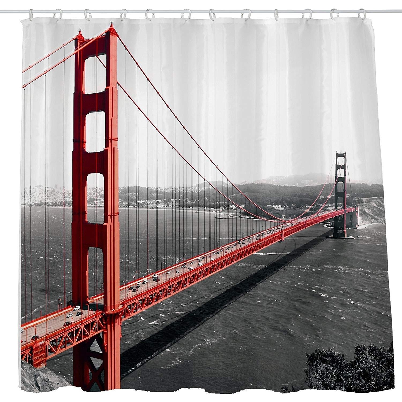 Shower Curtain Cloth Fabric Waterproof