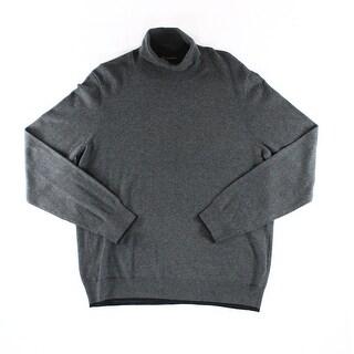 INC NEW Onyx Gray Mens Size 2XL Heather Long Sleeve Turtleneck Sweater