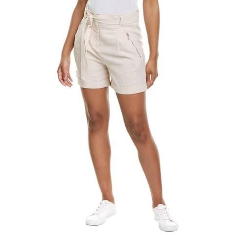 Karl Lagerfeld Paperbag Linen-Blend Short