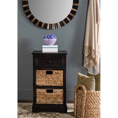 "SAFAVIEH Carrie Brown Side Storage Side Table - 15.9"" x 13"" x 27.6"""