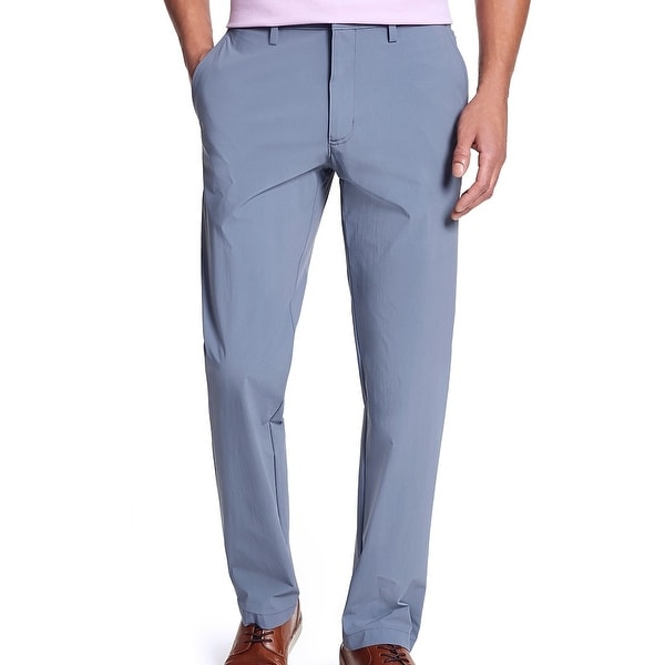 Alfani Mens Chino Pants Infinity Blue 38x30 Slim Fit Stretch Flat Front. Opens flyout.