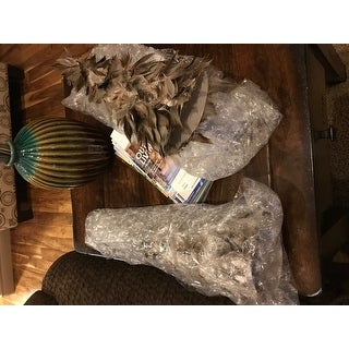 """15.5"""" Light Brown Glittered Feather Cone Tree Christmas Decoration"""