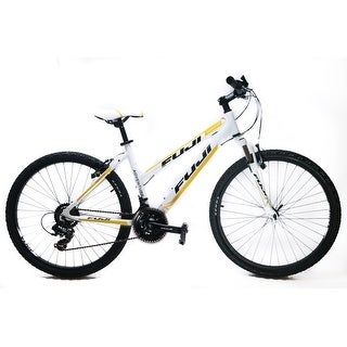 "Fuji Adventure ST 15"" Women's 26"" Hardtail MTB Bike Shimano 3 x 7s White NEW"