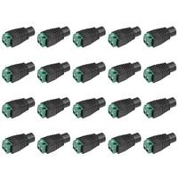 20Pcs Female 5.5x2.1mm DC Power Jack Adapter Connector for CCTV Security Camera - dc female 20pcs - DC Female 20pcs