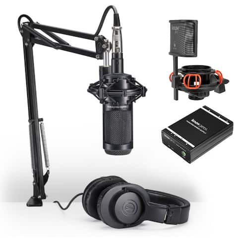 Audio-Technica AT2035PK Mic Podcasting Pack with Power Supply Bundle
