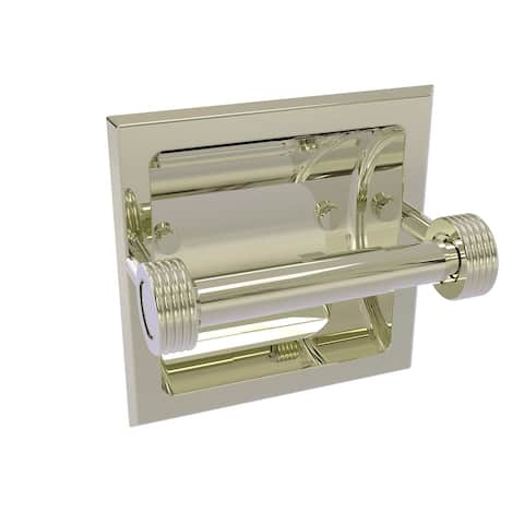 Allied Brass Continental Collection Recessed Toilet Tissue Holder with Groovy Accents