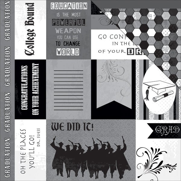 "Graduation Double-Sided Cardstock 12""X12""-Graduations Cutouts"