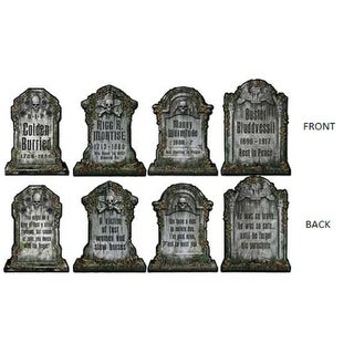 Club Pack of 24 Double Sided Tombstone Cutouts 15""